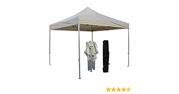 All Seasons Gazebos 3 x 3 m, Totalmente Impermeable, Grado Industrial, Hexagonal 40 Aluminio, toldo desplegable, Beige No Side Walls: Amazon.es: Jardín