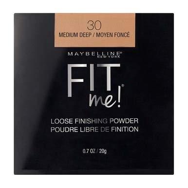 Maybelline Fit Me Loose Finishing Powder, 30 Medium Deep, 0.7 oz (Pack of 2)