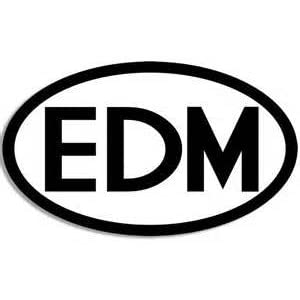 "EDM Euro Electric Dance Music DJ Vinyl Decal Sticker|BLACK|Cars Trucks Vans Suvs Laptops Tool Box Wall Art|5.5"" X 3""