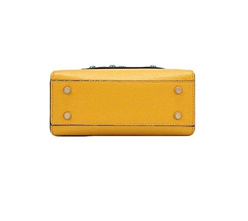Hombro Las Yellow Mensajero Del Bolso Pu De La Señoras Moneda qpxPxIw5