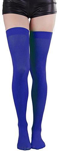 Blue Thigh High Stockings (ToBeInStyle Women's Long Schoolgirl Stockings)