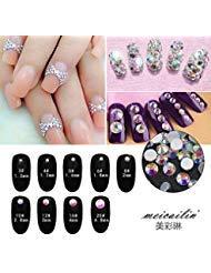 Nail Art Rhinestone Ab White Crystal 1440pcs/bag Shining Flatback Rhinestone Decorations for Nails SS10 ()
