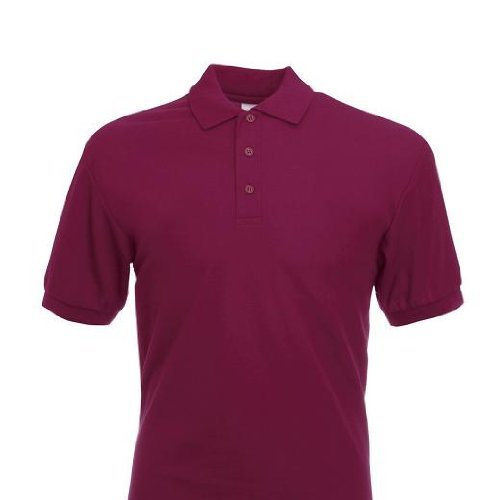 Mens Fruit of the Loom 65/35 Pique Polo Tshirt-Burgundy-Large by ...