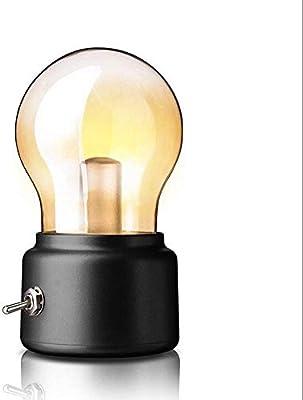 Mtttd74100147 Lámparas de Escritorio Retro Led Lámparas de Bulbo Vintage Lámpara de Mesa Bombilla Recargable Usb Iluminación de Escritorio Natural Y Respetuoso con el Medio Ambiente, Proteja Sus Ojos: Amazon.es: Bricolaje y