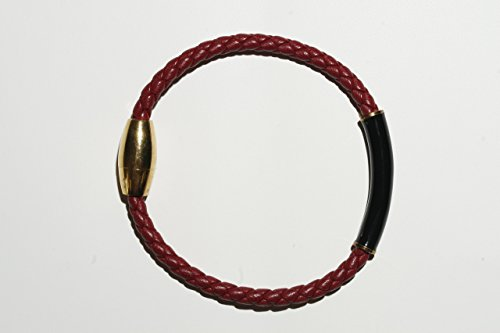 - Woven Red Leather Bracelet, 8