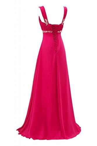 da Empire rosa Gorgeous Sunvary Pageant sera fucsia satinato abito sera lunghezza HqfxqBwn