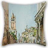 Artistdecor Oil Painting Edward Darley Boit - Rio Di San Barnaba, Venice Pillow Cases 18 X 18 Inches / 45 By 45 Cm Gift Or Decor For Divan,sofa,home,kids Room,coffee House,bedding - Double Sides