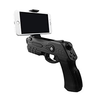 e6a0f2df9c6b Xplorer Blaster Augmented Reality AR Game Gun with Bluetooth for IOS and  Android Smartphones (Black