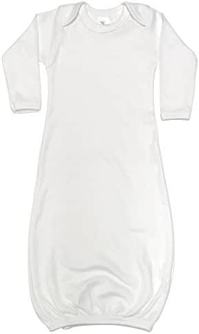 Laughing Giraffe Baby Long Sleeve Sleeper Gown (3-6M, White)