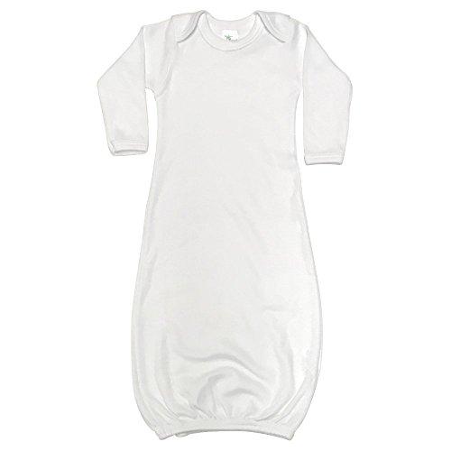 (Laughing Giraffe Baby Long Sleeve Sleeper Gown (3-6M, White))