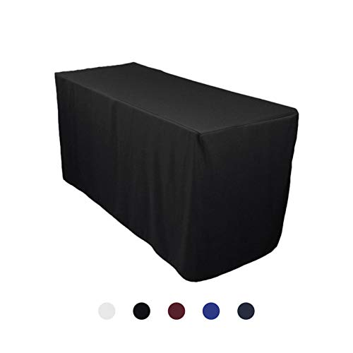 VEEYOO 6 Feet Table Cover - Polyester Rectangle Table Cover
