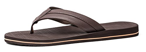 Anlarach Men's Flip Flops Thong Sandals Extra Large Size with Arch Support Light Weight Beach Slippers