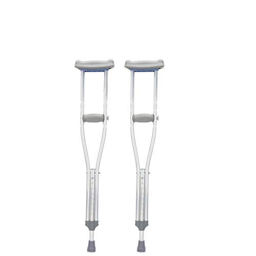 ZHAS Crutches Crutches Underarm Aluminum Alloy Crutches Adjustable Height Elderly Disabled Crutches (Size : Small) - Crutch Adjustable Aluminum Underarm