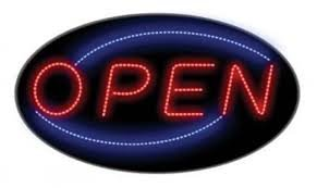 EXTRA LARGE 24X14 OPEN LED NEON SIGN WITH ON/OFF ANIMATION + ON/OFF SWITCH +CHAIN EXCLUSIVE BY *TOP NEON NEON SIGNS TM LOGO IN SIGN*