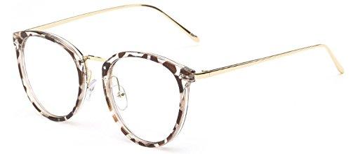 父方のすり採用Bocoss - レディースメンズゴーグルoculosデGRAUについてはクリアレンズユニセックスメガネフレームのレトロなヴィンテージメタル眼鏡フレーム付きラウンド眼鏡