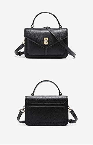 Per donna Borsa a tracolla - Moda Primo Strato In Pelle Tote Bag Tracolla Piccola Borsa Quadrata Retro Nappa Casual Viaggio Nero Blu Rosso Rosa Nero L