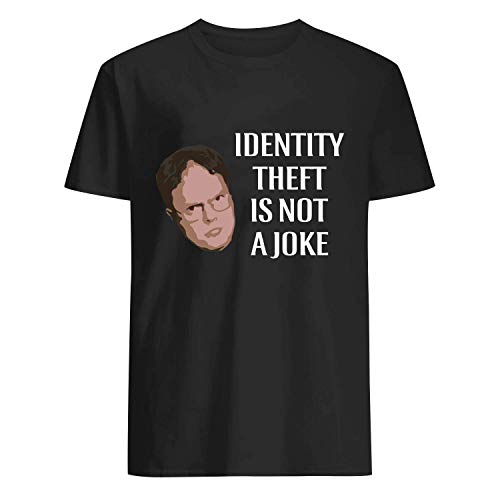 USA 80s TEE Identity Theft is Not A Joke Shirt Black]()