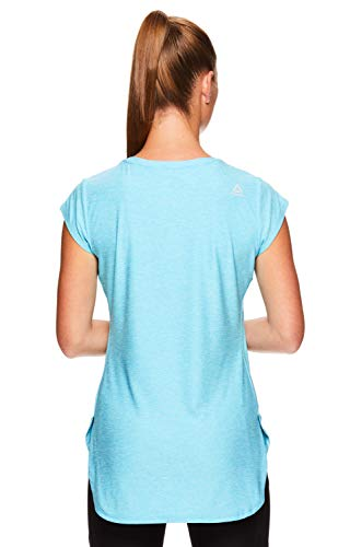 Reebok Women's Legend Performance Top Short Sleeve T-Shirt - Blue Atoll Heather, Extra Small by Reebok (Image #3)