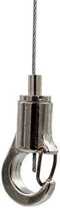 Haken mit Aushängesicherung Gripper 12 Seil Ø 1,0-1,2mm Drahtseilhalter
