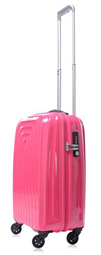 lojel-wave-polycarbonate-carry-on-upright-spinner-luggage-pink-one-size