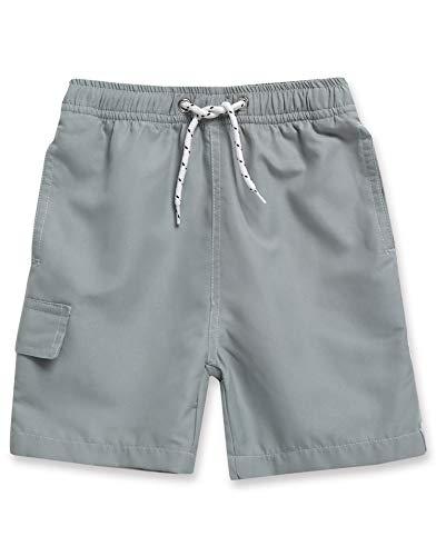Vaenait baby 6M-7T Boys Swim Trunk Board Shorts Bathers Boy Grey L