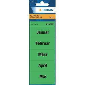 10 x HERMA contenido (para archivadores meses surtidos Verde VE=100 etiquetas: Amazon.es: Electrónica