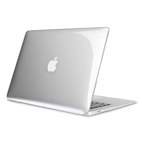 Fintie MacBook Air 13 Inch Case - Fits Previous Generations A1466 / A1369 (Will Not Fit 2018 MacBook Air 13 with Touch ID A1932), Slim Snap On Hard Shell Protective Cover, Crystal Clear