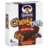 Quaker Chewy Dipps Granola Bars, Chocolatey Covered, Choc...