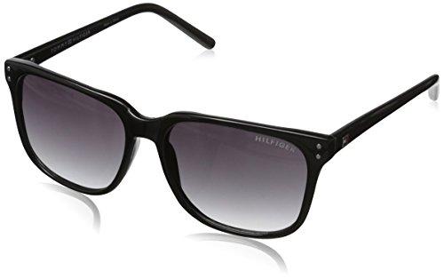 Tommy Hilfiger Women's THS LAD115 Wayfarer Sunglasses, Black, 54 - Sunglasses Tommy Hilfiger Wayfarer