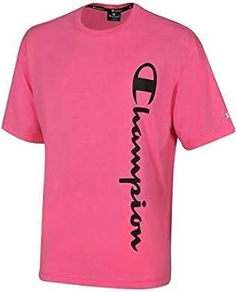 Champion Camiseta Hombre Cuello Caja Fucsia 214233- PF005-PNFF: Amazon.es: Ropa y accesorios