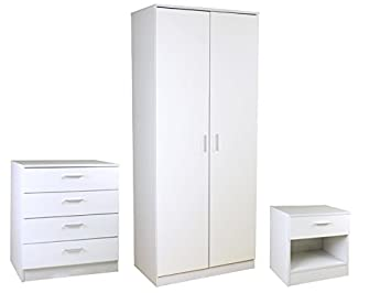 Beau Right Deals UK High Gloss White 3 Piece Bedroom Furniture Set   Ottawa  Caspian SUPREME Range
