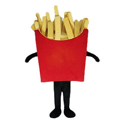 Potato Chips Mascot Costume French Fries Cosplay Fancy Dress Advertising Outfit (One Size -