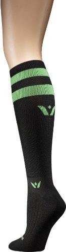 Swiftwick Видение Двенадцать сжатия Носки, черный / зеленый, Большой