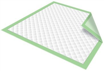 Chux Disposable Underpads by Healthline, Disposable Waterproof Absorbent Incontinence Bed Pads for Adults, Elderly, Pets, Medical Chucks Pads & Mattress Protector, 23X36, 50/Case, Green by HEALTHLINE (Image #3)