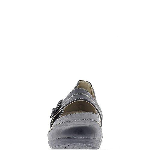 Comfort donna blu scarpe tacco 4,5 cm