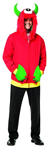 Rasta Imposta Men's Monster Hoodie, Red, X-Large