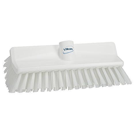 Vikan 70413 10-3/4' Polyester Stiff Bristle Deck Scrub, Blue