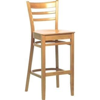 Gentil Kitchen / Breakfast Bar Chairs   Wooden Beech Dining High Stool Natural  Finish (Pack 2