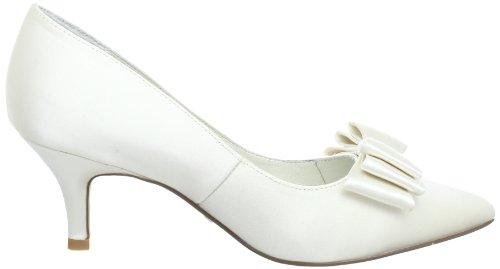 Menbur Wedding Zoe 5071 - Zapatos clásicos de satén para mujer Marfil