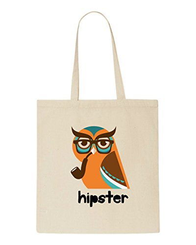 Tote Owl Text Vintage Character Quote Hipster Shopper Animal Beige Style Bag HTr0xHq