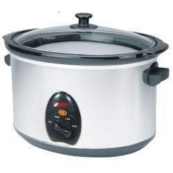 Magic Mill - NSC800 MAGIC MILL SLOW COOKER / CROCK POT, 8.5 QT CHROME REMOVABLE CERAMIC INSERT