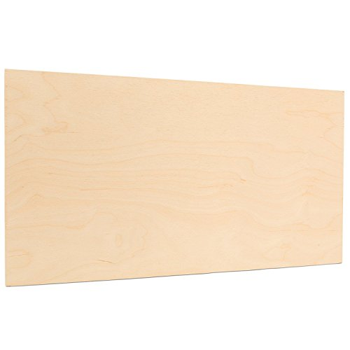 """3 mm 1/8""""x 18"""" x 24"""" Premium Baltic Birch Plywood, Box of 8 B/BB Birch Veneer Sheets, Perfect for Laser CNC Cutting and Wood Burning Projects - by Woodpeckers"""