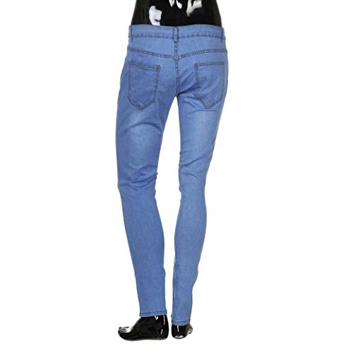 Casual Jeans Destroyed Pantaloni Marca In Di Blau Mode Denim Da Skinny Pants Uomo Chern Strech Slim Fit gZngORTxwq