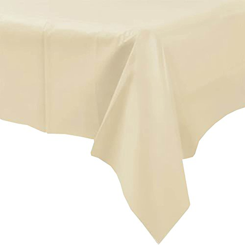 ROPALIA Plastic Table covers Tablecloths Rectangle for We...