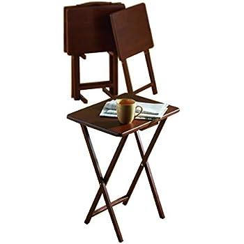 Amazon.com: Juego de mesa plegable Linon, en imitació ...