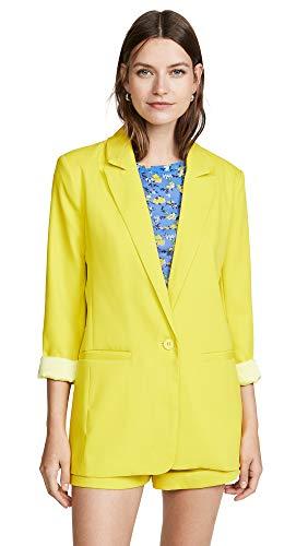 endless rose Women's Tailored Blazer, Yellow, Small