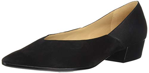 (Naturalizer Women's Betty Pump, Black Leather/Suede, 10 M US)