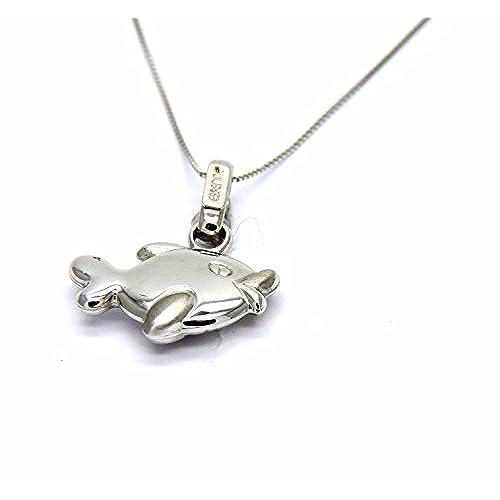 76a12d87d1cd Pegaso Joyería – Collar oro blanco 18 kt cadena con colgante pescado pelota  ...