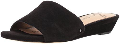 Sam Edelman Women's Liliana Slide Sandal, Black Suede, 10 M US