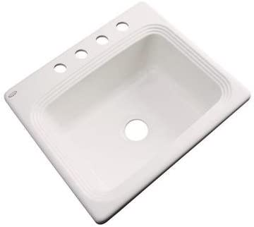 Wellington Drop In Acrylic 25x22x9 In 1 Hole Single Bowl Kitchen Sink In Natural Amazon Com